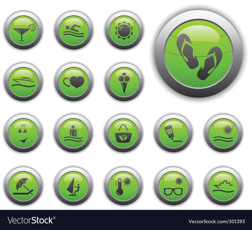 Recreation icons vector | Price: 1 Credit (USD $1)