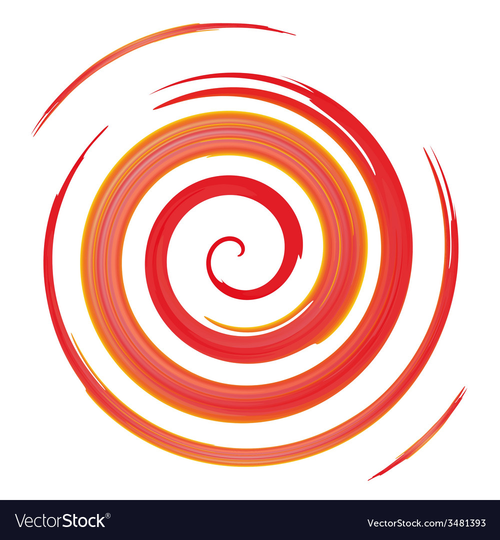 Red watercolor spiral vector | Price: 1 Credit (USD $1)