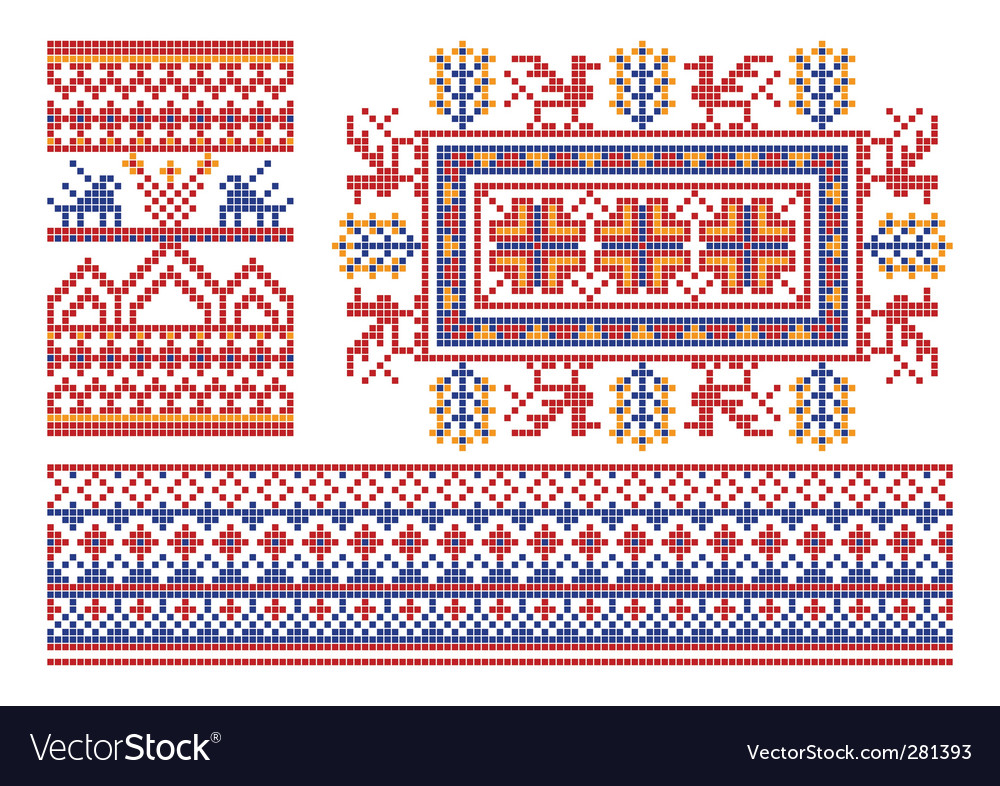 Russian ornament patterns vector | Price: 1 Credit (USD $1)