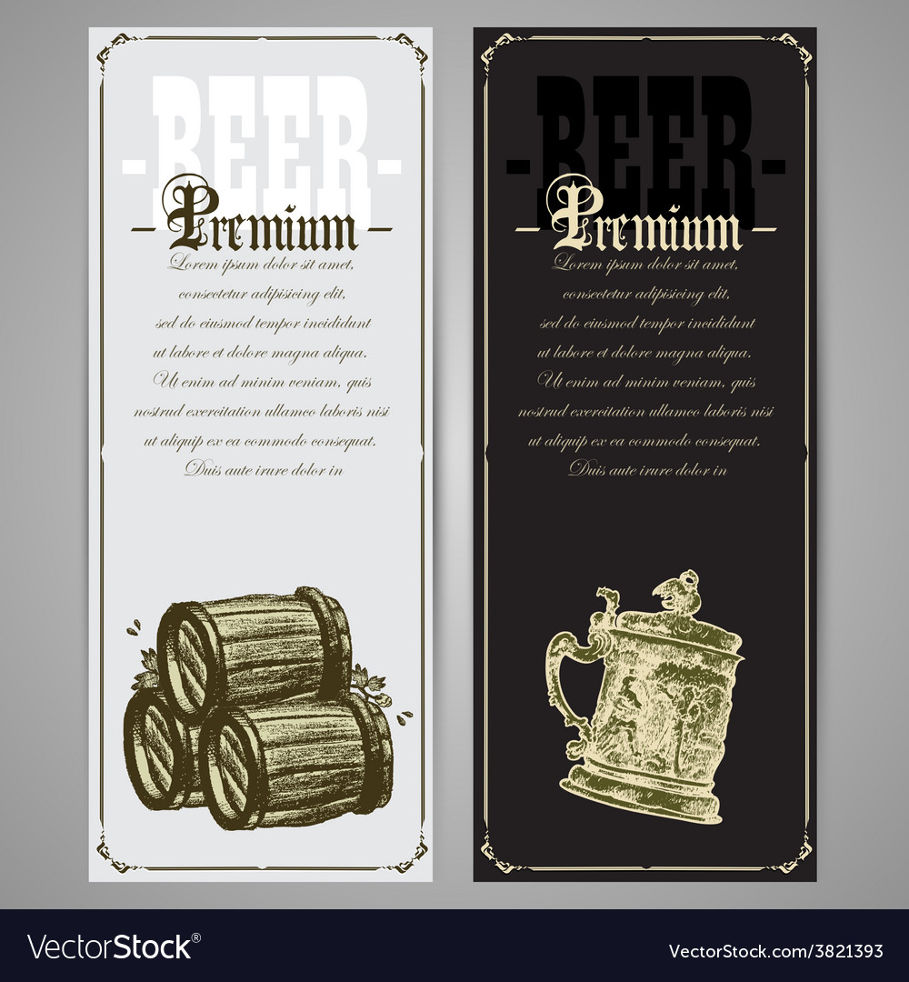 Set of beer labels vector   Price: 3 Credit (USD $3)