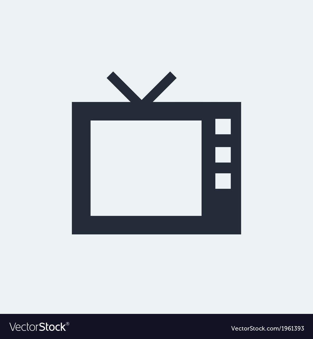 Tv flat icon vector | Price: 1 Credit (USD $1)