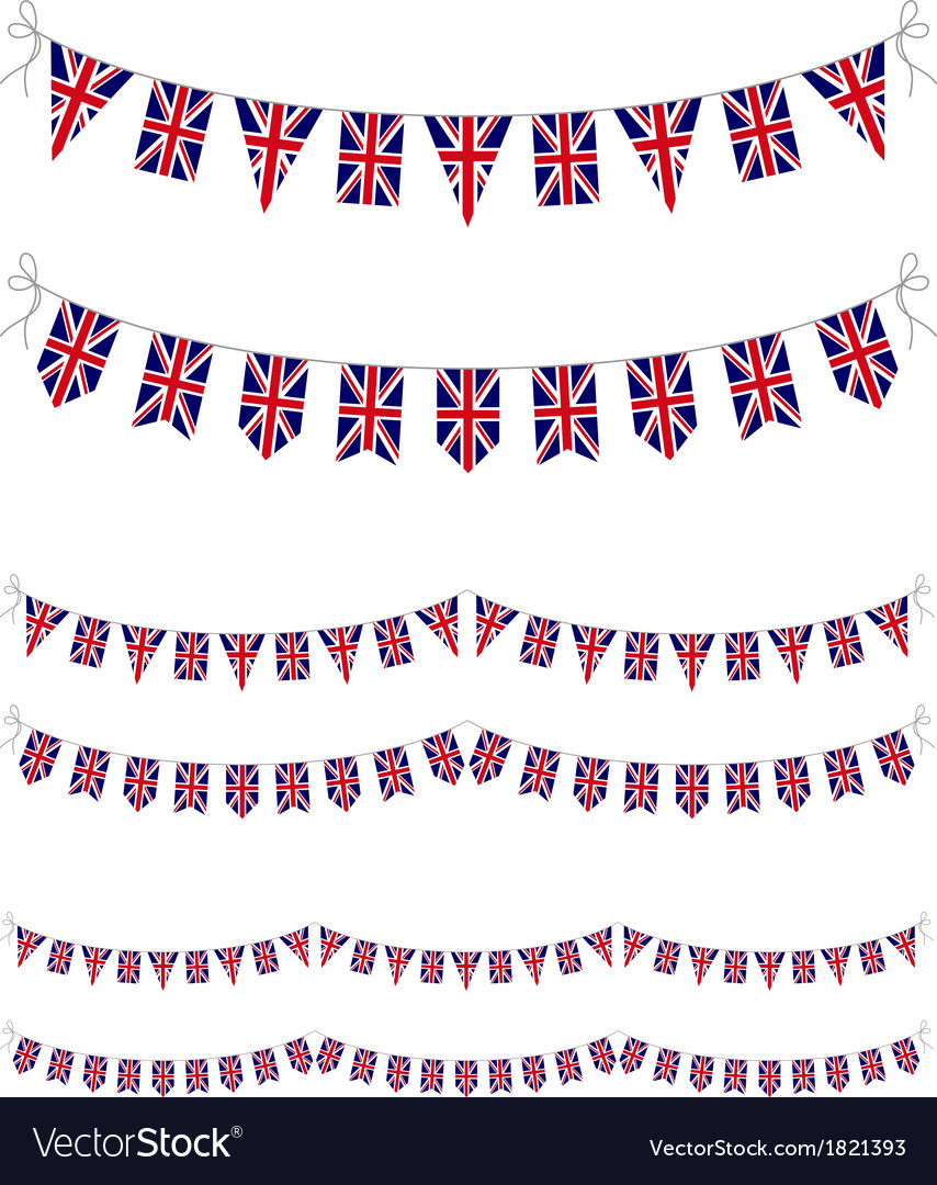 Uk bunting vector | Price: 1 Credit (USD $1)