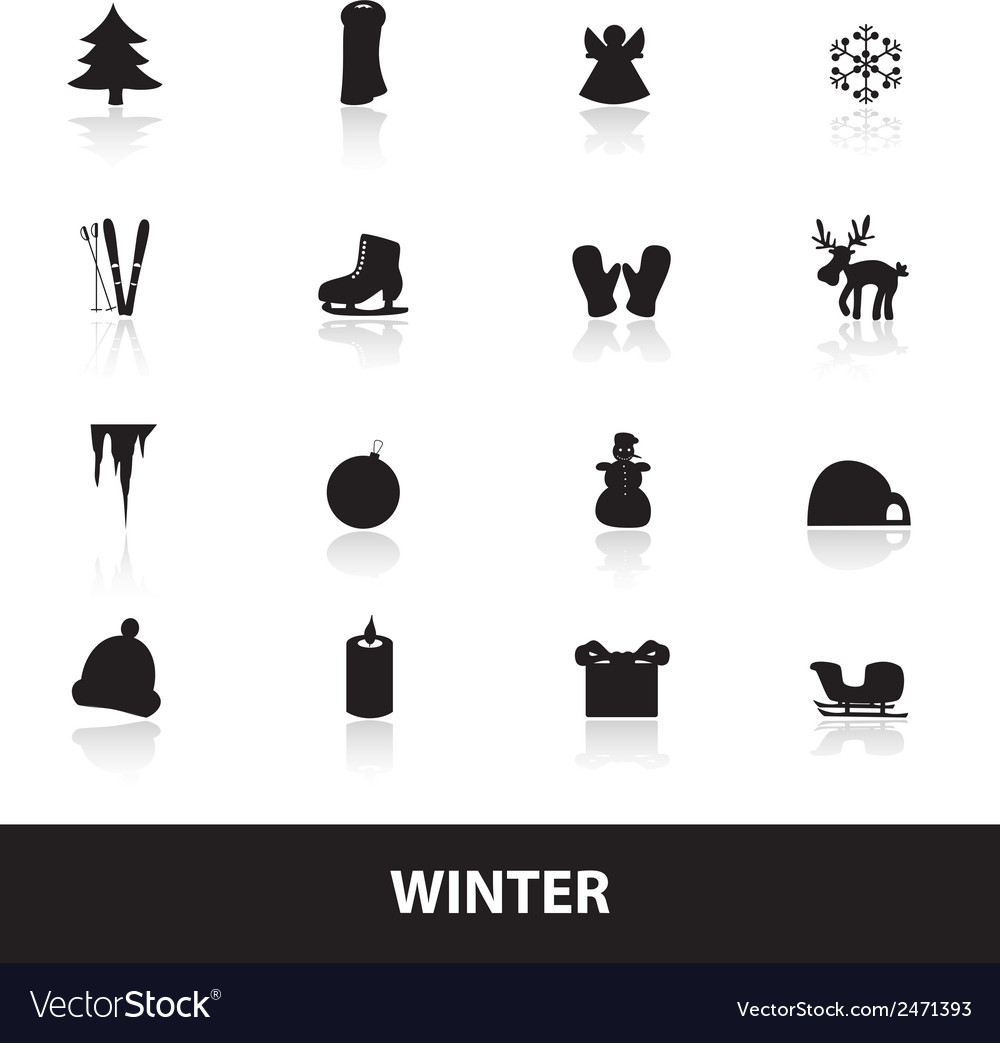 Winter icons eps10 vector | Price: 1 Credit (USD $1)