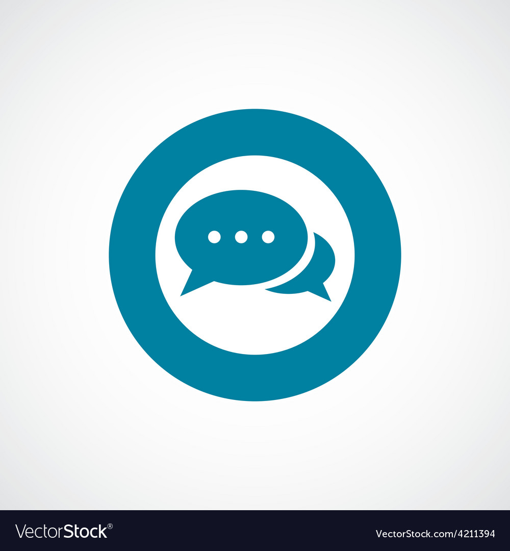 Chat icon bold blue circle border vector | Price: 1 Credit (USD $1)