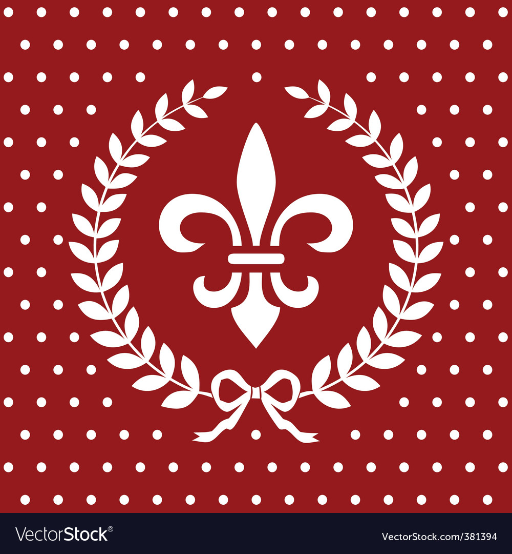 Fleur-de-lis background vector | Price: 1 Credit (USD $1)