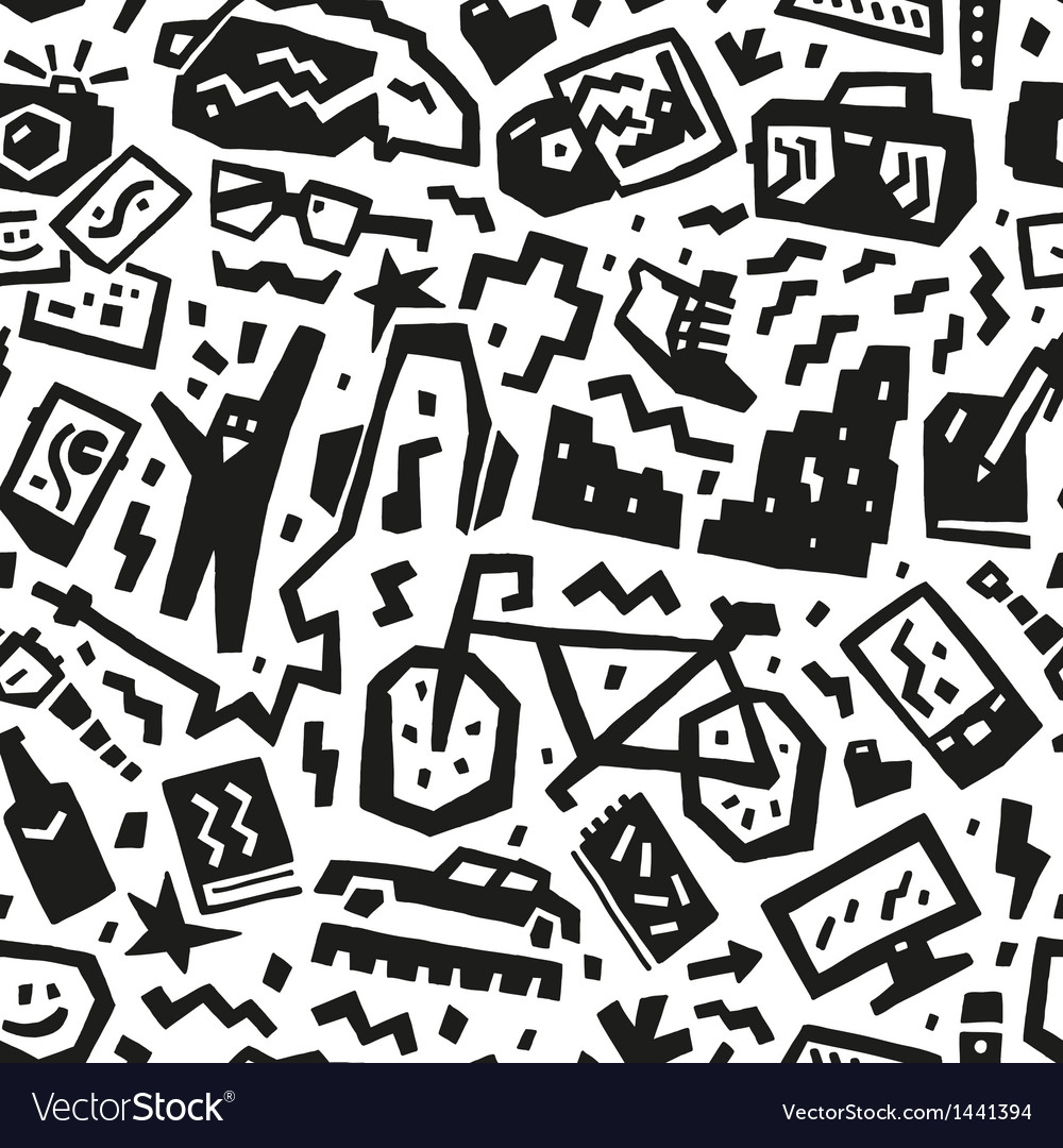 Hipsters things - seamless background vector | Price: 1 Credit (USD $1)