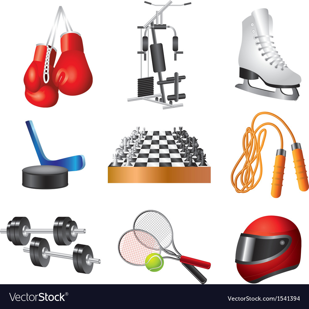 Icons sport items vector | Price: 3 Credit (USD $3)