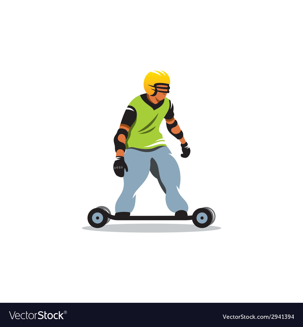 Mountainboard sign vector | Price: 1 Credit (USD $1)