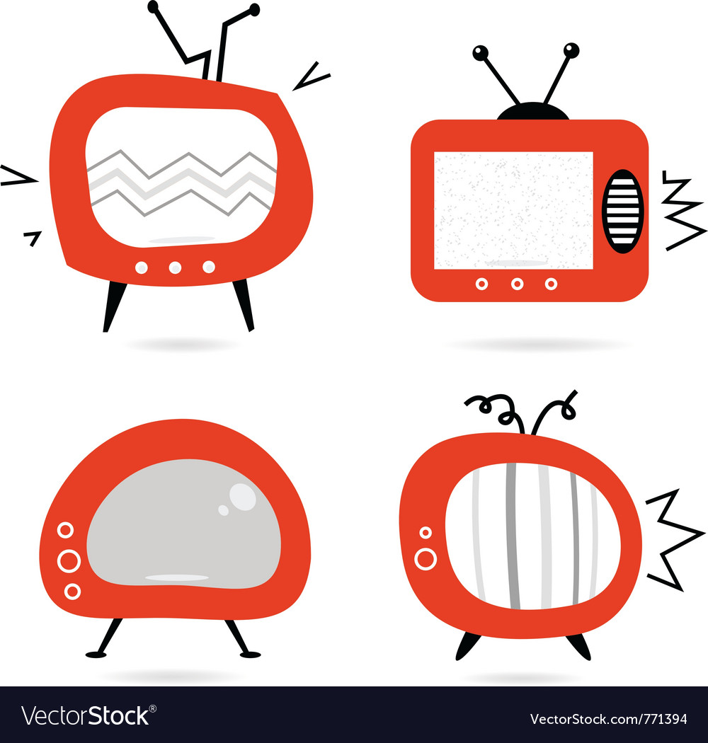 Old retro tv collection vector | Price: 1 Credit (USD $1)