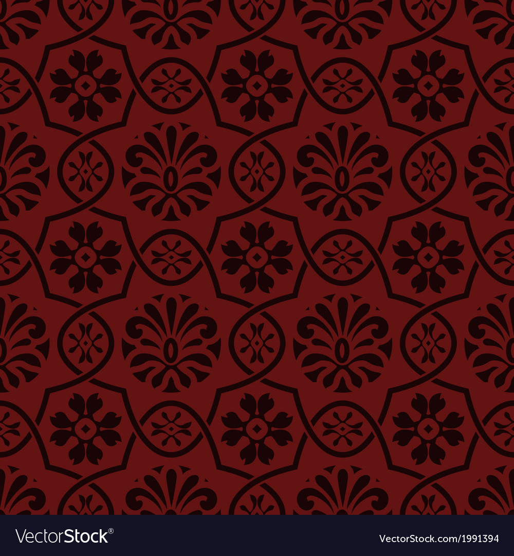 Seamless floral pattern indian style vector | Price: 1 Credit (USD $1)