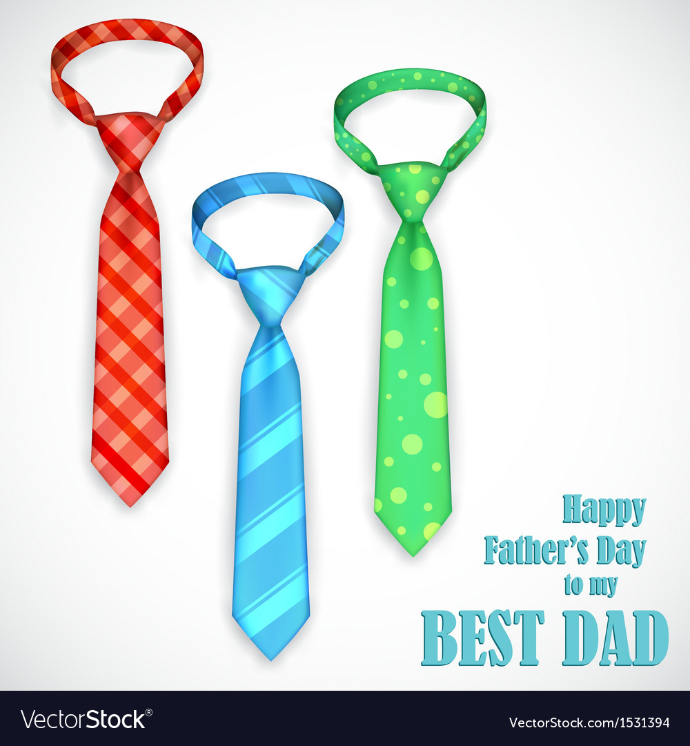 Tie in fathers day card vector | Price: 1 Credit (USD $1)