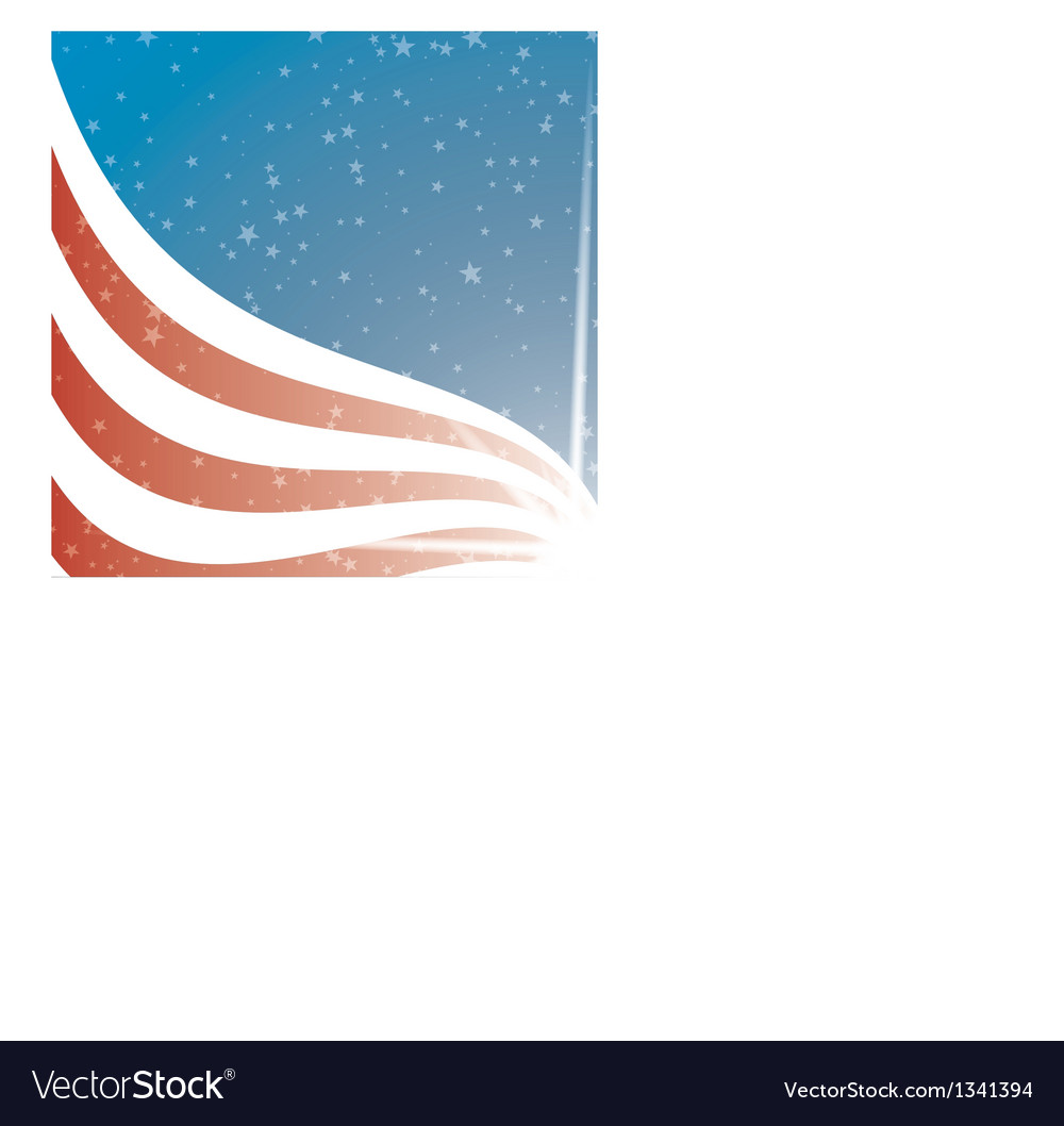United states flag background vector | Price: 1 Credit (USD $1)