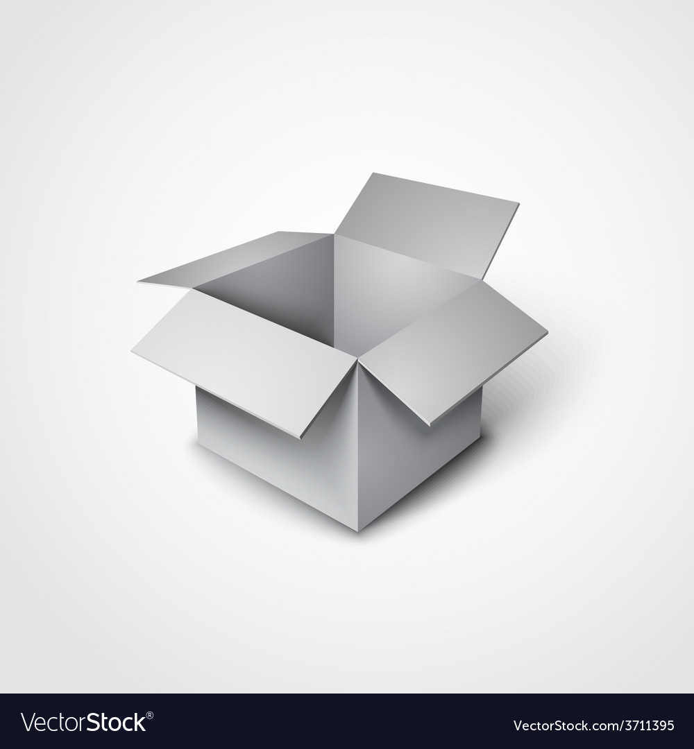 3d open box in a realistic style vector | Price: 1 Credit (USD $1)