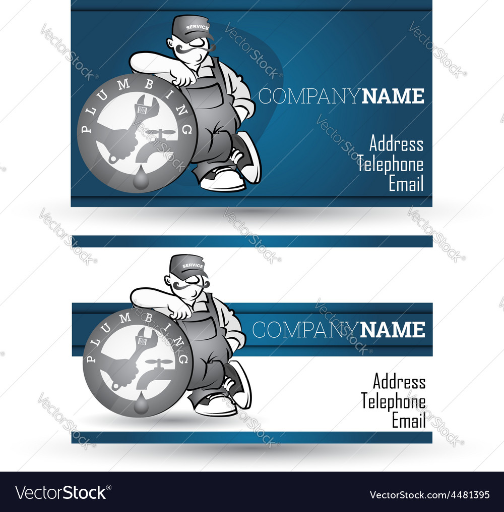 Business card for sanitary technician vector | Price: 1 Credit (USD $1)
