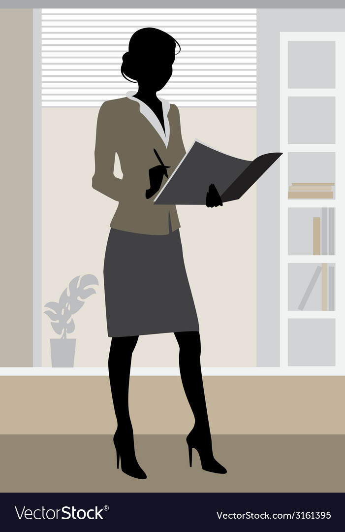 Businesswoman office vector | Price: 1 Credit (USD $1)