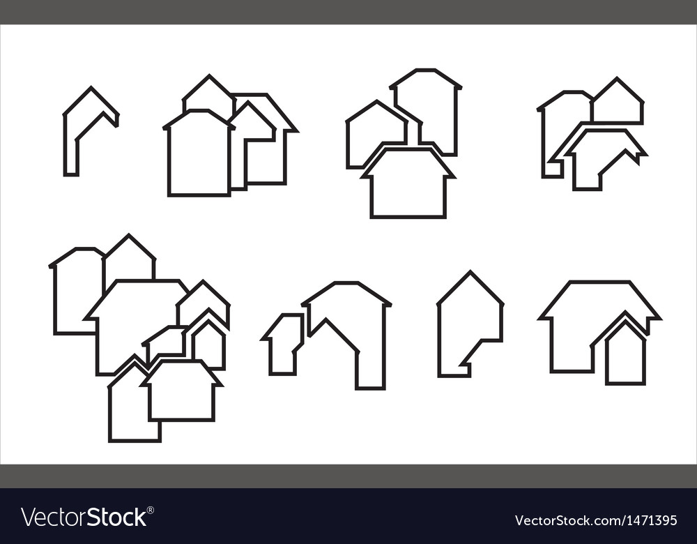 Construction real estate icon vector | Price: 1 Credit (USD $1)