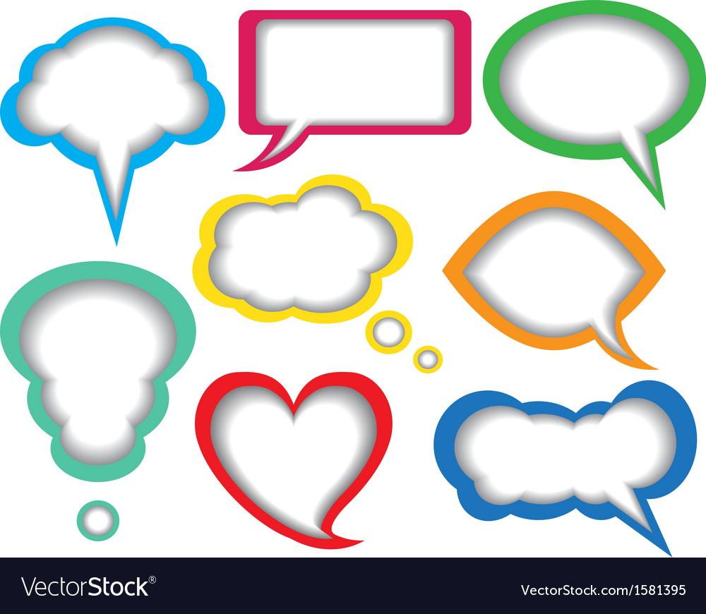 Dialogue bubbles vector | Price: 1 Credit (USD $1)