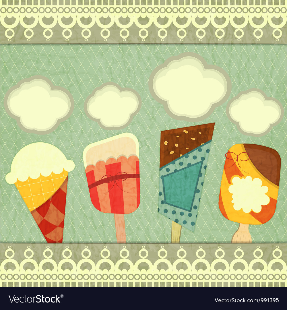 Ice cream retro price vector | Price: 1 Credit (USD $1)