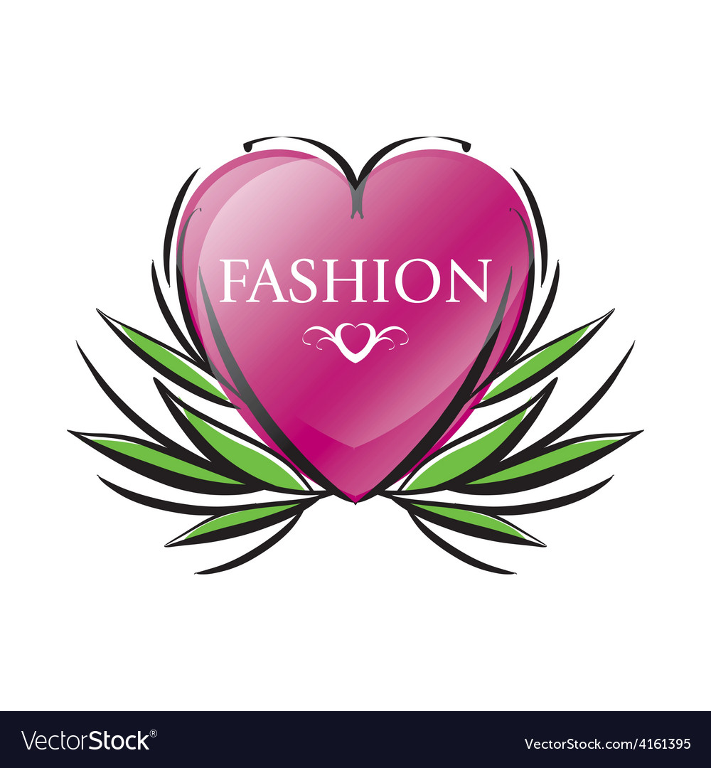Logo red heart for fashion vector | Price: 1 Credit (USD $1)