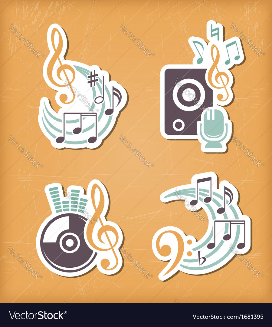 Music design paper cut elements vector | Price: 1 Credit (USD $1)