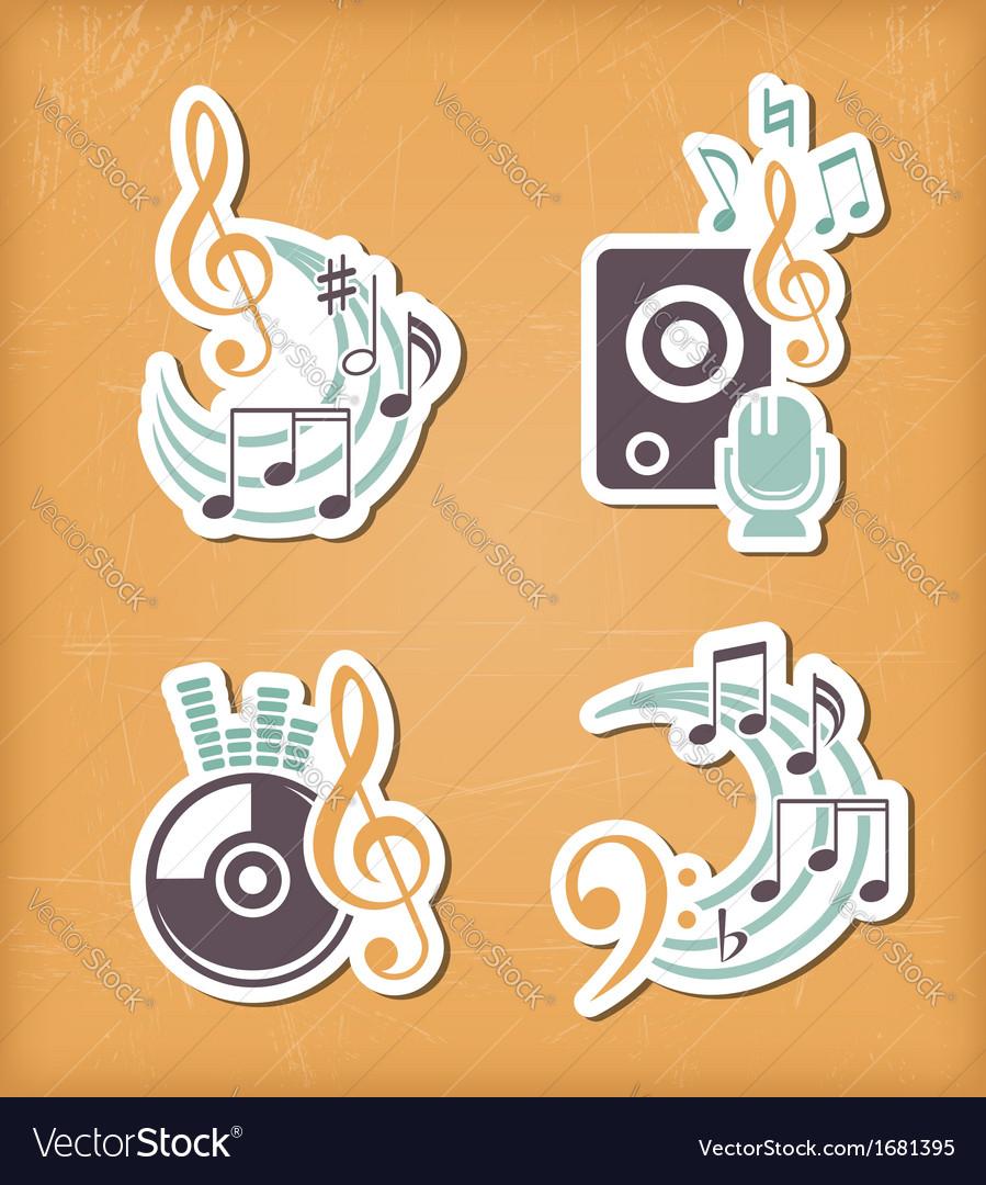 Music design paper cut elements vector | Price: 1 Credit (USD $1)