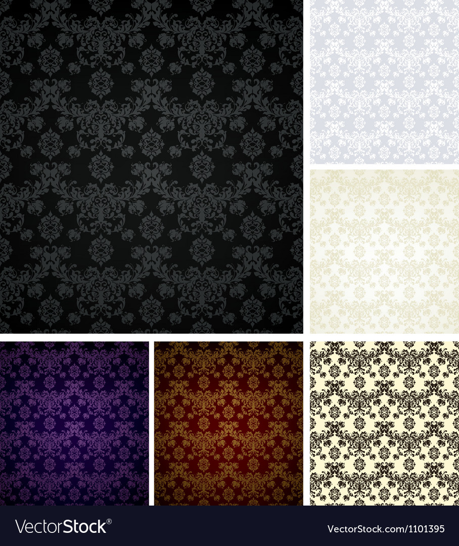 Seamless pattern six colors vector | Price: 1 Credit (USD $1)