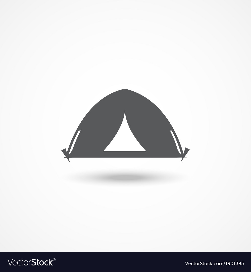 Tourist tent icon vector | Price: 1 Credit (USD $1)