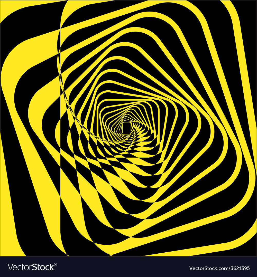 Turning yellow square frame abstraction vector | Price: 1 Credit (USD $1)