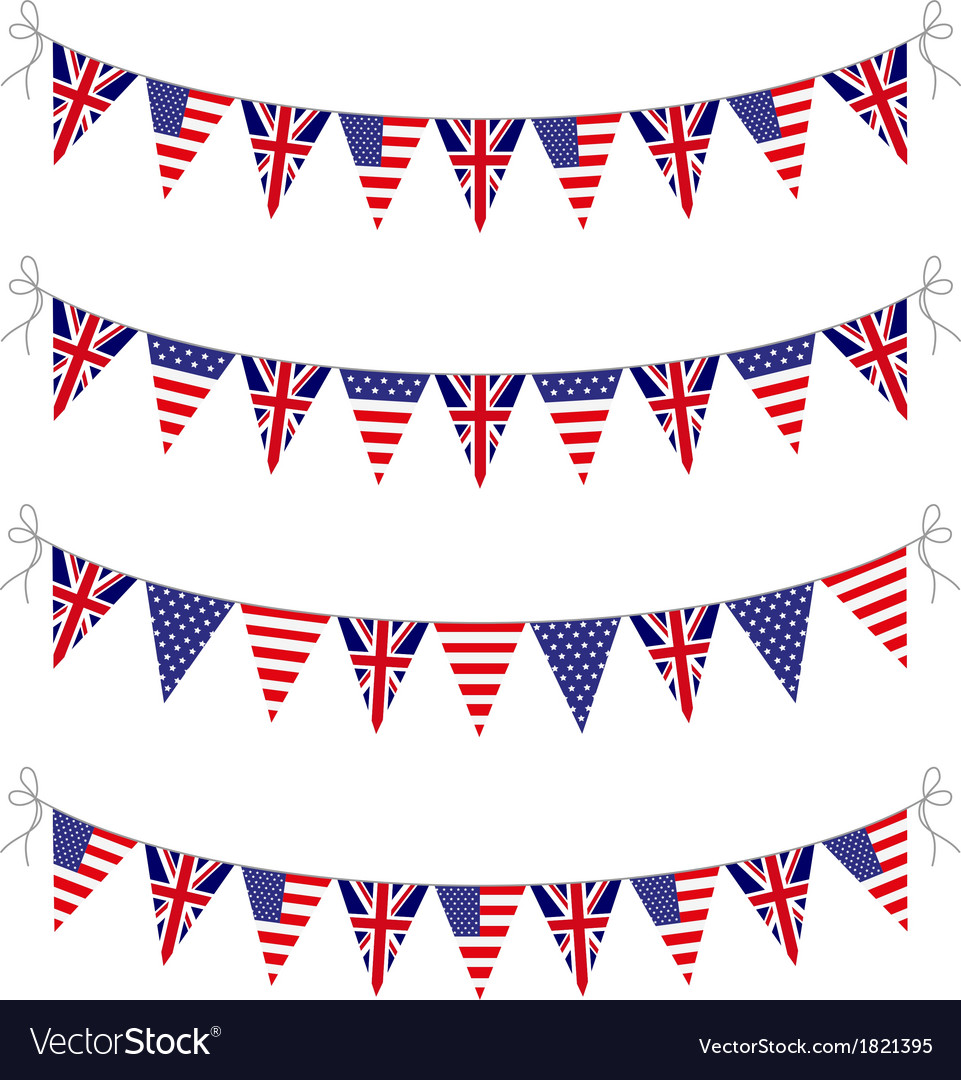 Usa and uk bunting vector | Price: 1 Credit (USD $1)