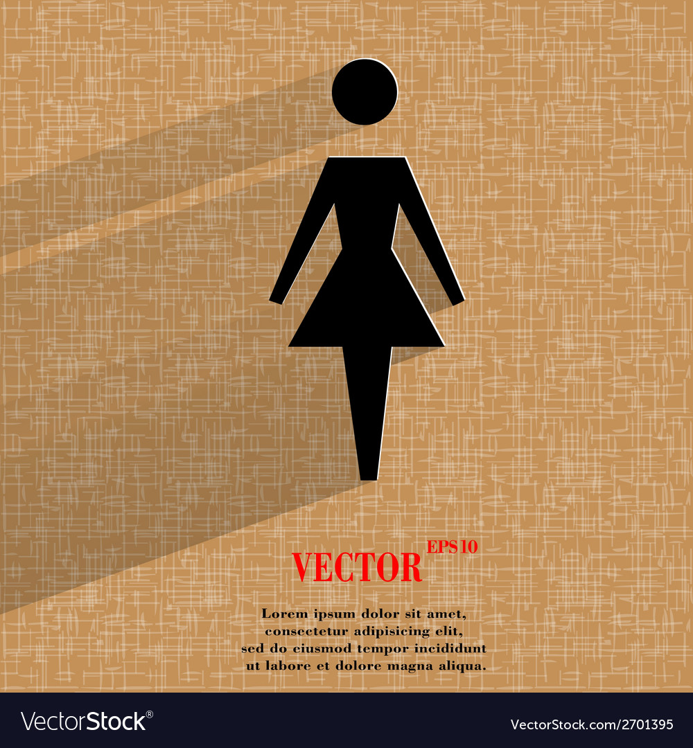 Woman restroom flat modern web design on a flat vector | Price: 1 Credit (USD $1)