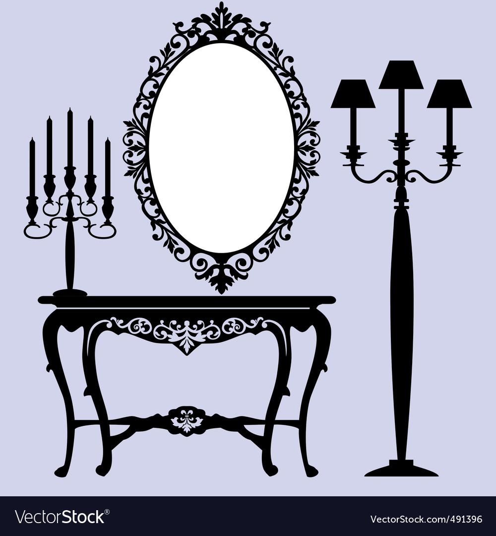 Antique furniture vector | Price: 1 Credit (USD $1)