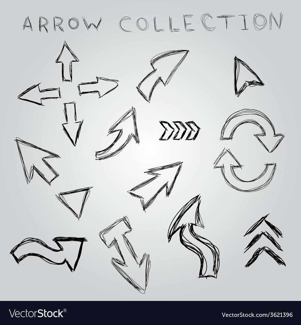 Arrow sketch collection element for you design vector | Price: 1 Credit (USD $1)