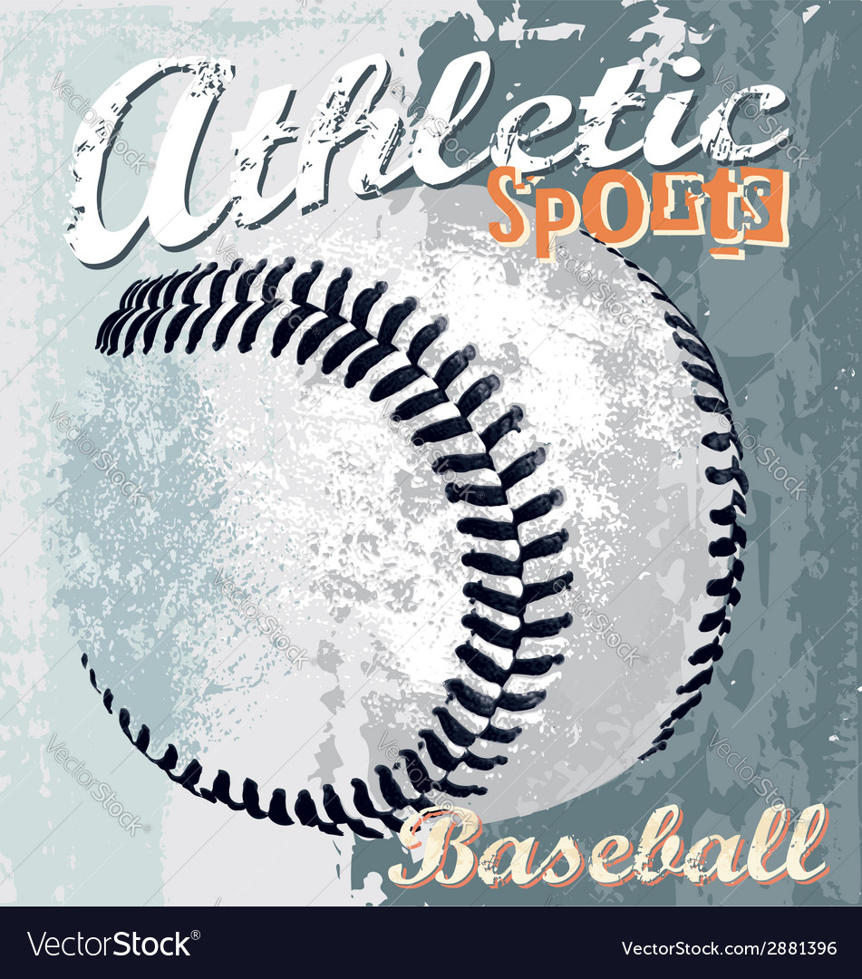 Baseball athletic sport vector | Price: 1 Credit (USD $1)