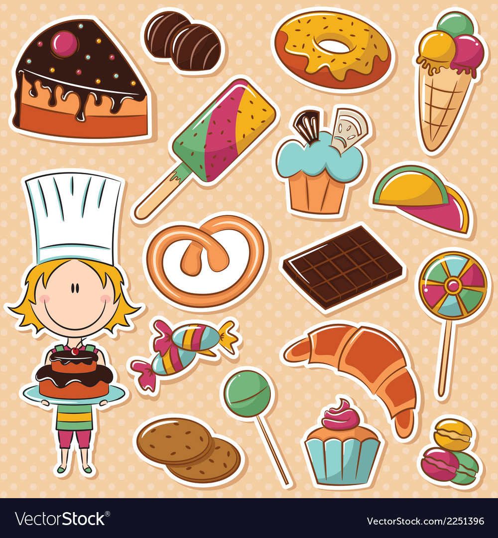Confectioner vector | Price: 1 Credit (USD $1)