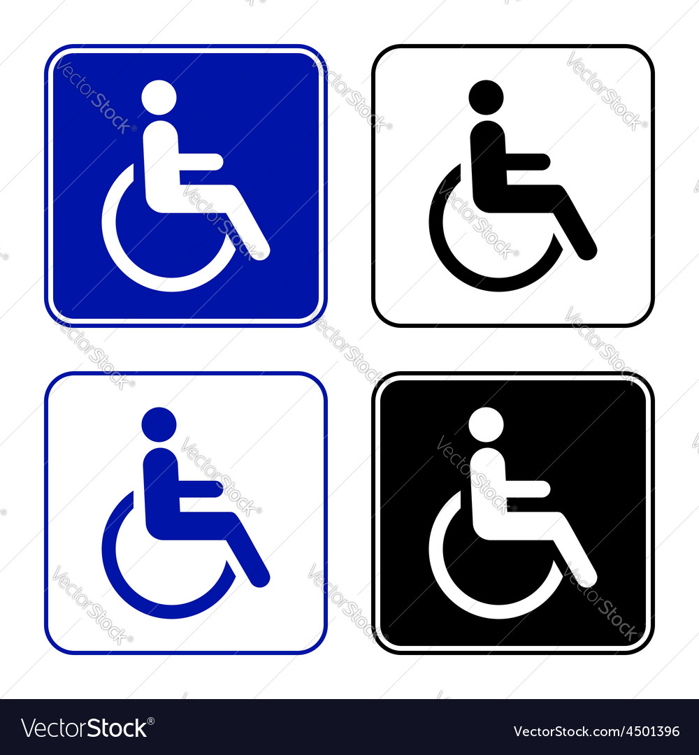 Disabled handicap icon vector | Price: 1 Credit (USD $1)