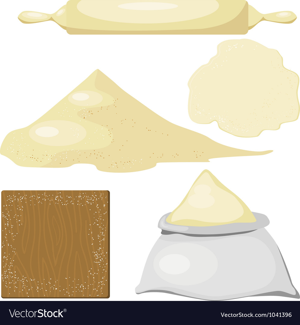 Dough flour vector | Price: 1 Credit (USD $1)