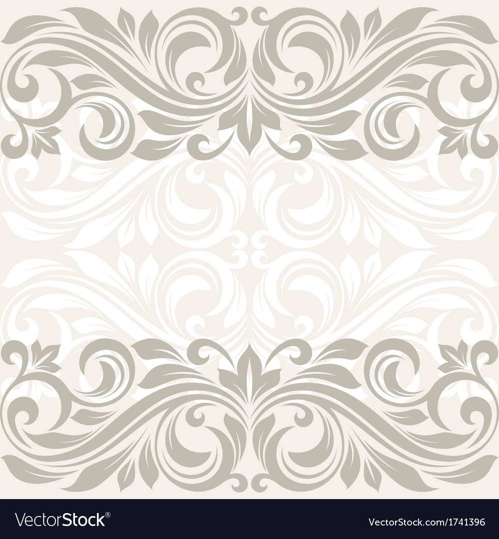Floral border abstract flower beckground vector | Price: 1 Credit (USD $1)