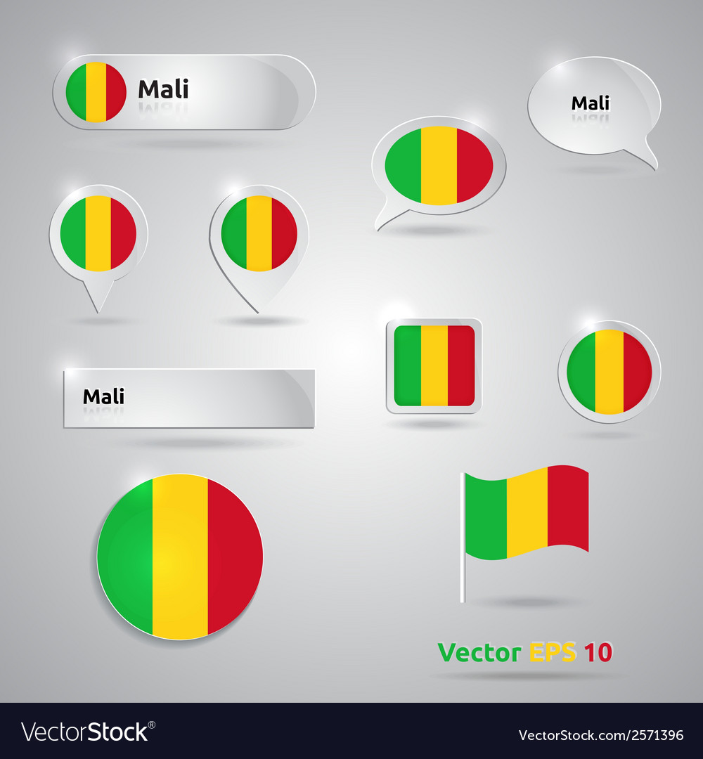 Mali icon set of flags vector | Price: 1 Credit (USD $1)