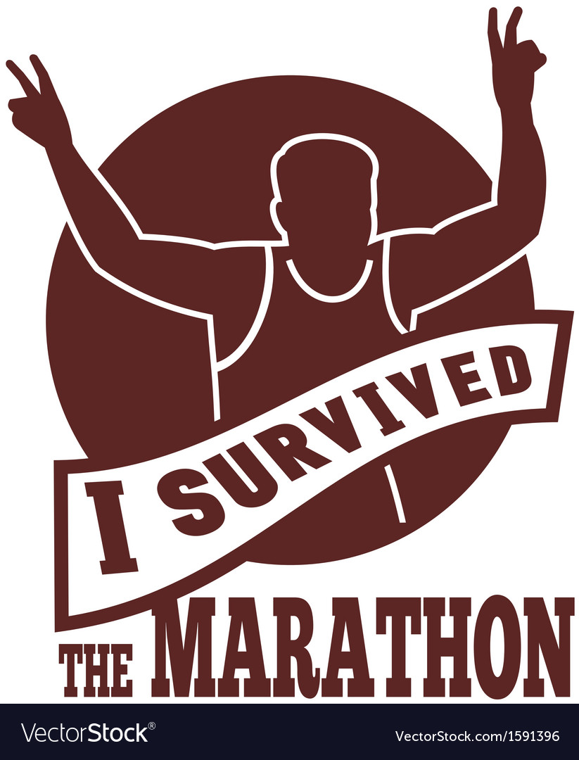 Marathon runner i survived vector | Price: 1 Credit (USD $1)