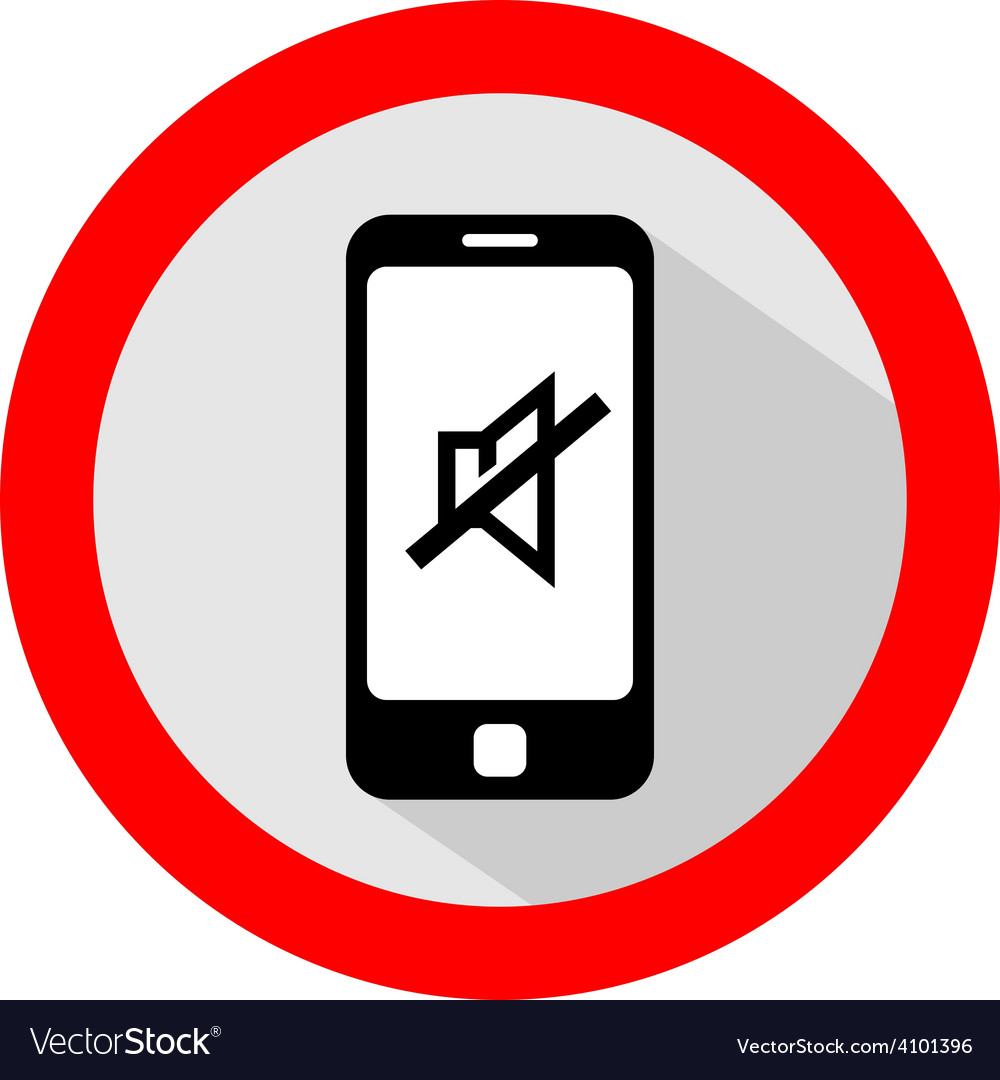 Mobile phone ringer volume mute sign vector | Price: 1 Credit (USD $1)