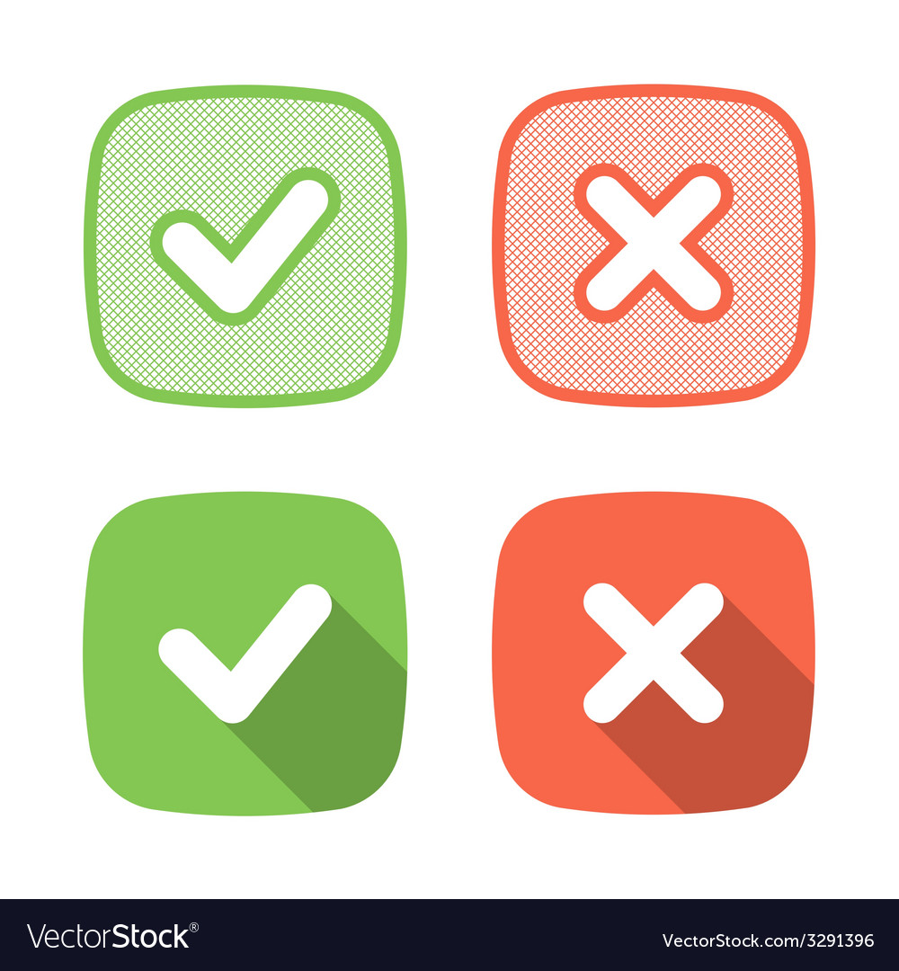 Trendy check mark icon for web or interface vector | Price: 1 Credit (USD $1)