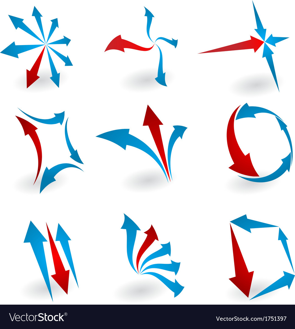 Abstract logo arrows vector | Price: 1 Credit (USD $1)
