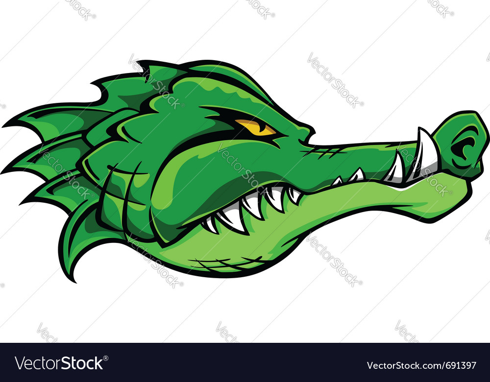 Alligator crocodile vector | Price: 1 Credit (USD $1)