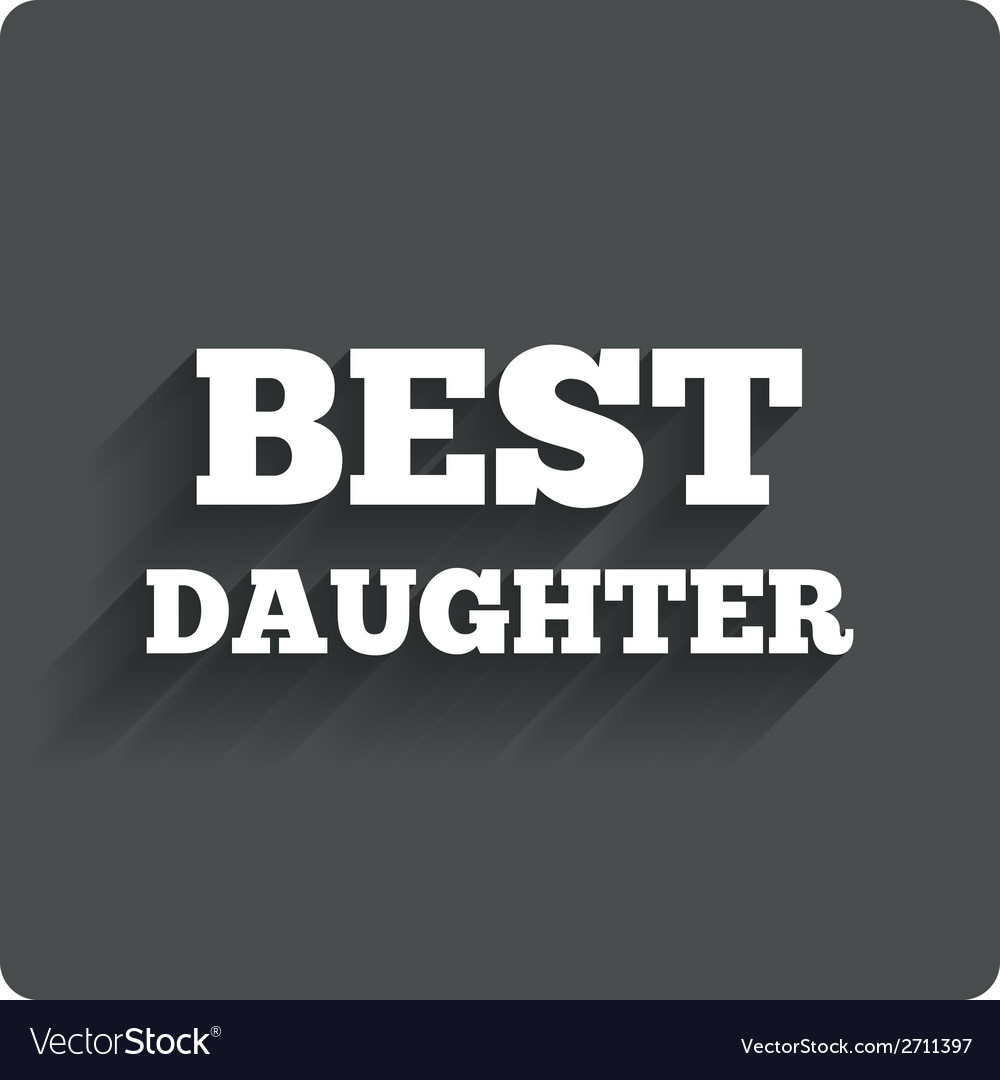 Best daughter sign icon award symbol vector | Price: 1 Credit (USD $1)