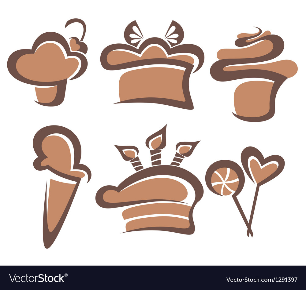 Cakes and sweets vector | Price: 1 Credit (USD $1)