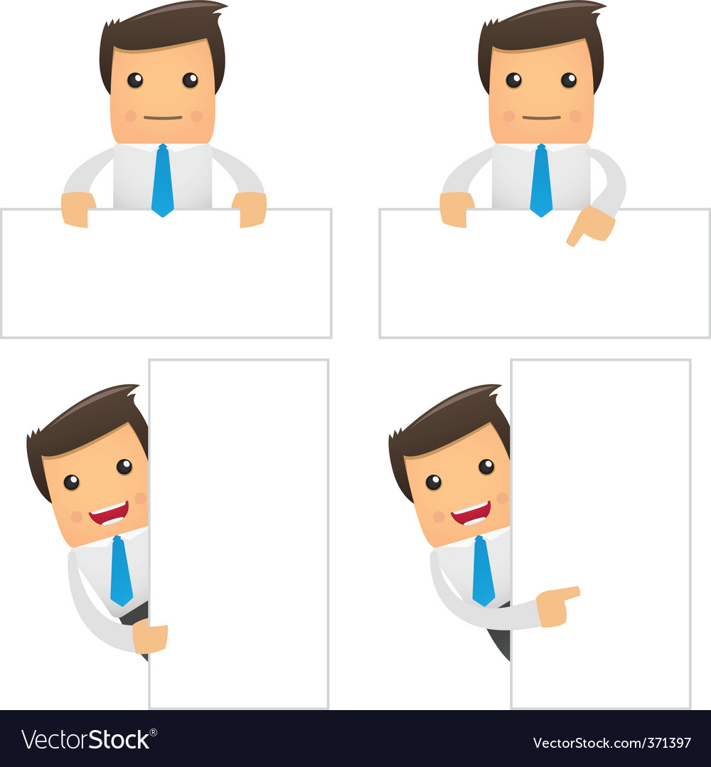 Cartoon office workers vector | Price: 1 Credit (USD $1)