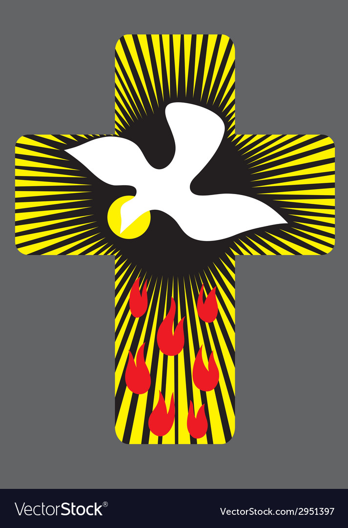 Cross with holy spirit vector | Price: 1 Credit (USD $1)