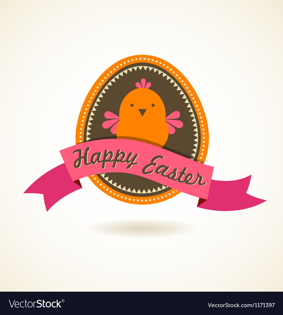 Easter vintage style greeting card vector | Price: 1 Credit (USD $1)