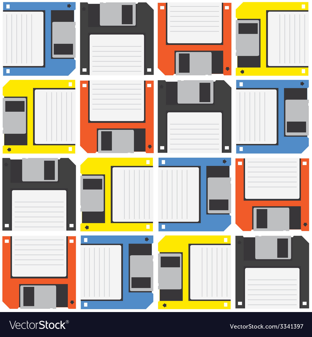 Floppy diskette pattern vector | Price: 1 Credit (USD $1)