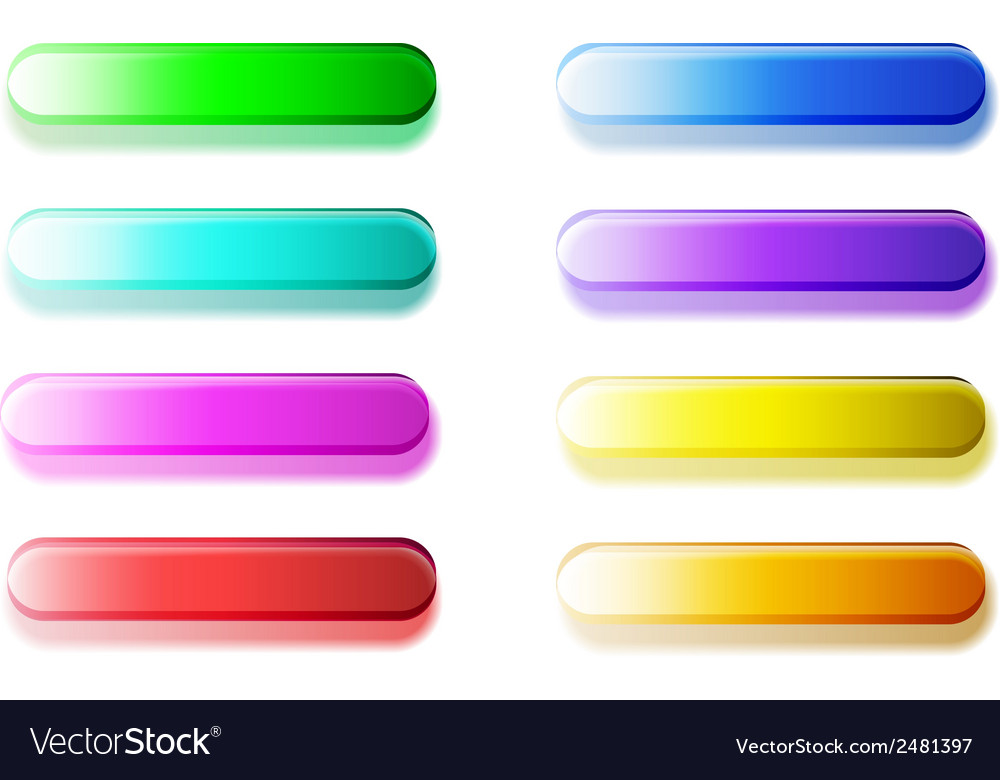 Glossy semi-transparent bars  buttons vector | Price: 1 Credit (USD $1)